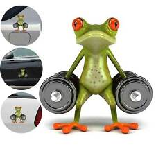 New 3D Dumbbell Frog Funny Car Stickers Styling Vinyl Decor Truck Window Decal