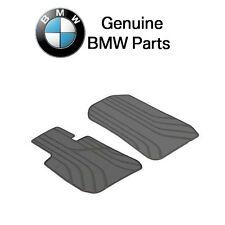 BMW Front Floor Mat Set All Weather Rubber Anthracite Black Genuine 51472311024