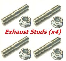 BZP M8 x 40mm Exhaust Studs + Flange Nuts (Pack of 4) - Ducati Speed 4
