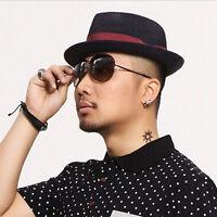 1Pair Mens Stainless Steel Hoop Piercing Ear Earring Studs Jewelry Fashion HU