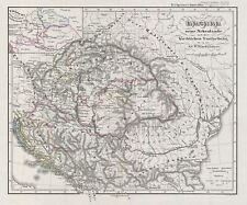 1854 Spruner Map of Hungary with ecclasiastical divisions