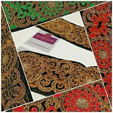 60mm Velvet floral embroidered border saree edging M1344
