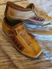 Great BNWOT MENS Ex Prada Tan Leather Shoes Size 9