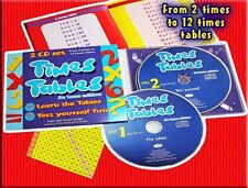Times Tables CD  + Times Tables booklet. Songs & Games  2 CD SET - NEW & WRAPPED