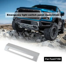 Emergency Warning Light Control Switch Decor Cover Fit Ford F150 2015+ Silver