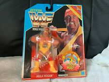 WWF Hasbro Hulk Hogan Action Figure US Blue Card 1991 hulkster hug Wrestling NEW