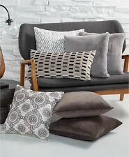 "New Hallmart Collectibles Bedding Gray Velvet 13"" x 26"" Decorative Pillow i398"