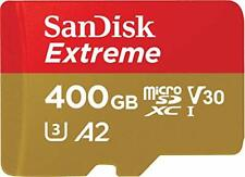 Extreme 400 GB microSDXC Memory Card + SD Adapter with A2 App