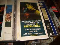 CRONACA DI UN DELITTO... IN PIENO SOLE  locandina originale 1960 ALAIN DELON