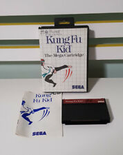 KUNG FU KID SEGA GAME WITH MANUAL OLD CONSOLE RETRO THE MEGA CARTRIDGE!