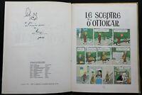 Album Tintin dédicacé « Le Sceptre d'Ottokar » - Casterman 1968 - Hergé Belgique