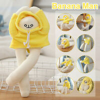 Funny Changeable Banana Man Doll Plush Toys Pillow Dress Doll Birthday Gift Kids