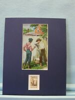 Honoring Mark Twain, author of  Huckleberry Finn honored by the Tom Sawyer stamp