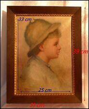 Portrait d'un Petit Garçon vers 1900 Impressionnisme Français Huile Sur Toile.