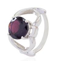 schöne Edelstein facettierten Granat solide Silber Ringe GeschenkfürdenBoxtag DE