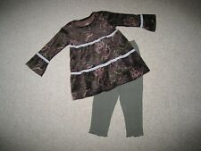 """NEW """"REGAL PAISLEY"""" Velour Pants Girls 18m Fall Winter Clothes Baby Boutique"""