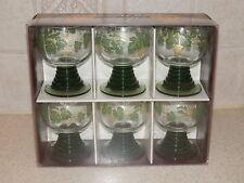 "BARWARE SCHOTT ZWEISEL GLASSWARE 6 NEW OLD STOCK WINE GLASSES 3 3/8"" BOXED SET"
