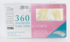THE EDGE BOX 360 BIG C CURVE NATURAL HALF WELL NAIL TIPS acrylic uv gel
