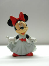 Minnie Mouse Collectible Figurine Bowing White Dress Red Bow Cute Smile Disney