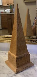"Obelisk Pyramid Wood w/ storage Box. 12.75"" Office / Home / School"