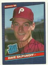 DAVE SHIPANOFF 1986 DONRUSS SIGNED # 34 PHILLIES