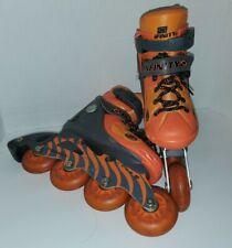 Kids unisex size 11J - 1 Infinity Tiger Orange inline roller blades skates Small