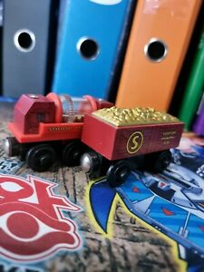 Gold Car and Sifter - Thomas the Tank Engine Wooden Railroad - USED