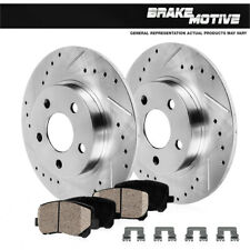 Rear Drill & Slot Brake Rotors And Ceramic Pads For Acura TSX Honda