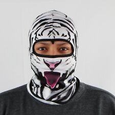 Full Face Mask Hat Neck Cover Balaclava Windproof Ninja Black & White Zebra Mask