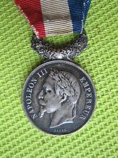 RARE - Médaille - NAPOLEON III EMPEREUR - Actes DEVOUEMENT - Attribué 1861 -