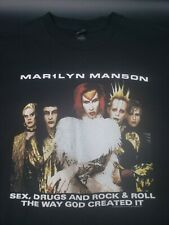 Marilyn Manson Rock Is Dead Tour Shirt Double Sided Size M !