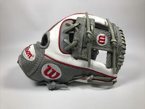 """Red White and Gray Wilson 1786 A2000 Pro Stock Glove 11.5"""""""