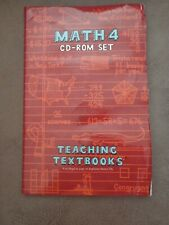Teaching Textbooks Math 4 CD set with code. No damage to the discs