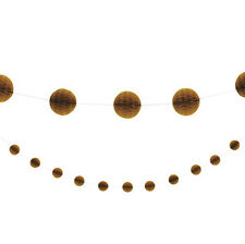 Gold Honeycomb Ball Garland / Banner Party Decoration - 7ft Long - New & Sealed