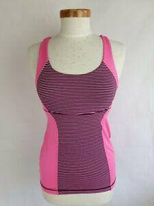 Lululemon Pink Purple Criss Cross Back Yoga Top Size M
