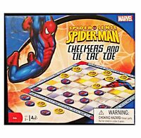Marvel Spider-Man 2 in 1 Checkers and Tic Tac Toe