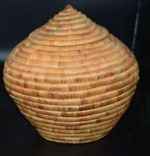 New Listing Alaskan Yup'ik Indian Grass Basket Native American First Nation Basketry