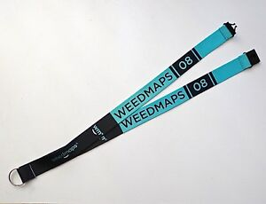 WEEDMAPS 08 - 1 LANYARD - ID Badge Holder - Key Chain Strap