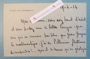 ♦ Pierre MILLE 1914 écrivain Choisy-le-Roi Atlantide Maroc Gentil carte lettre