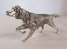 Miniatura statuina argento cane SETTER fatta a mano argento 800 gr 80