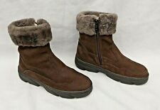 M.SHOES BROWN NUBUCK LEATHER FUR LINED CHELSEA BOOTS EU37 UK4 NEW FREE UK P&P!
