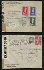 Iceland 1941/1942 - 4 Covers, All to the USA, All Censored, 2 Are Registered
