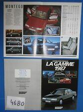 N°4680 / Austin Rover la gamme 1987  catalogue en français