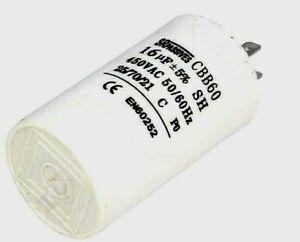 Condensateur Permanent Demarrage Moteur 16µF 16UF 16MF 450V 5% à cosses