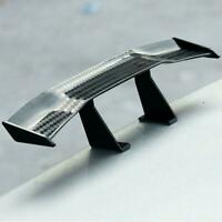 Black Carbon Fiber Black Car Mini Tail Spoiler Wing Accessories Hot Sticker E6D4