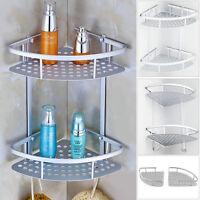 Metal Shower Bathroom Shelf Corner Caddy Basket Shampoo Storage Shelves 2 Tiers