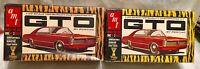 AMT Original 1965 Pontiac GTO Tiger Stripe Box 2 Variations EMPTY NO KIT PARTS