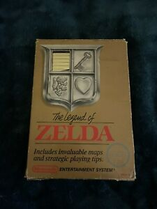 NES Legend of Zelda CIB Round Seal Complete in Box w/ Box Protector and map
