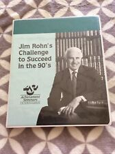 Challenge To succeed In The 90's Achievement Seminars International Jim Rohn's