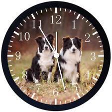 Border Collie Black Frame Wall Clock F42